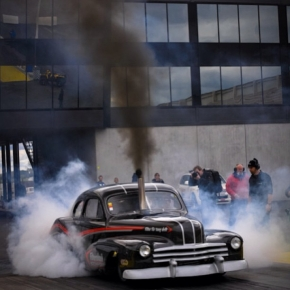 cummins diesel burnout Rat Rod